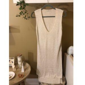 Zara long knit tunic with side slits